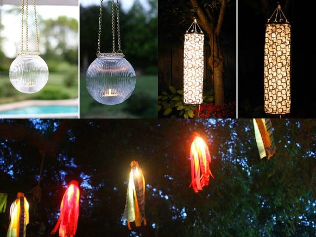 10 idee fai da te per illuminare il giardino guida giardino for Luci x esterno
