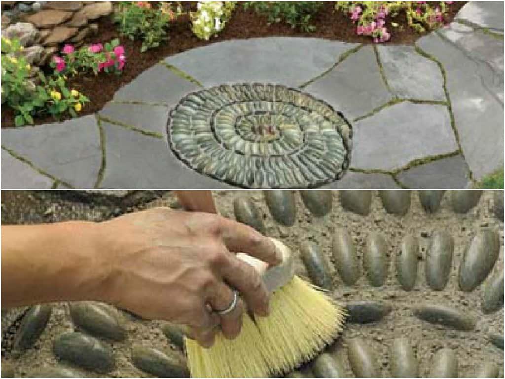 pavimentazione giardino outdoor : ... un mosaico nella pavimentazione della zona outdoor Guida Giardino