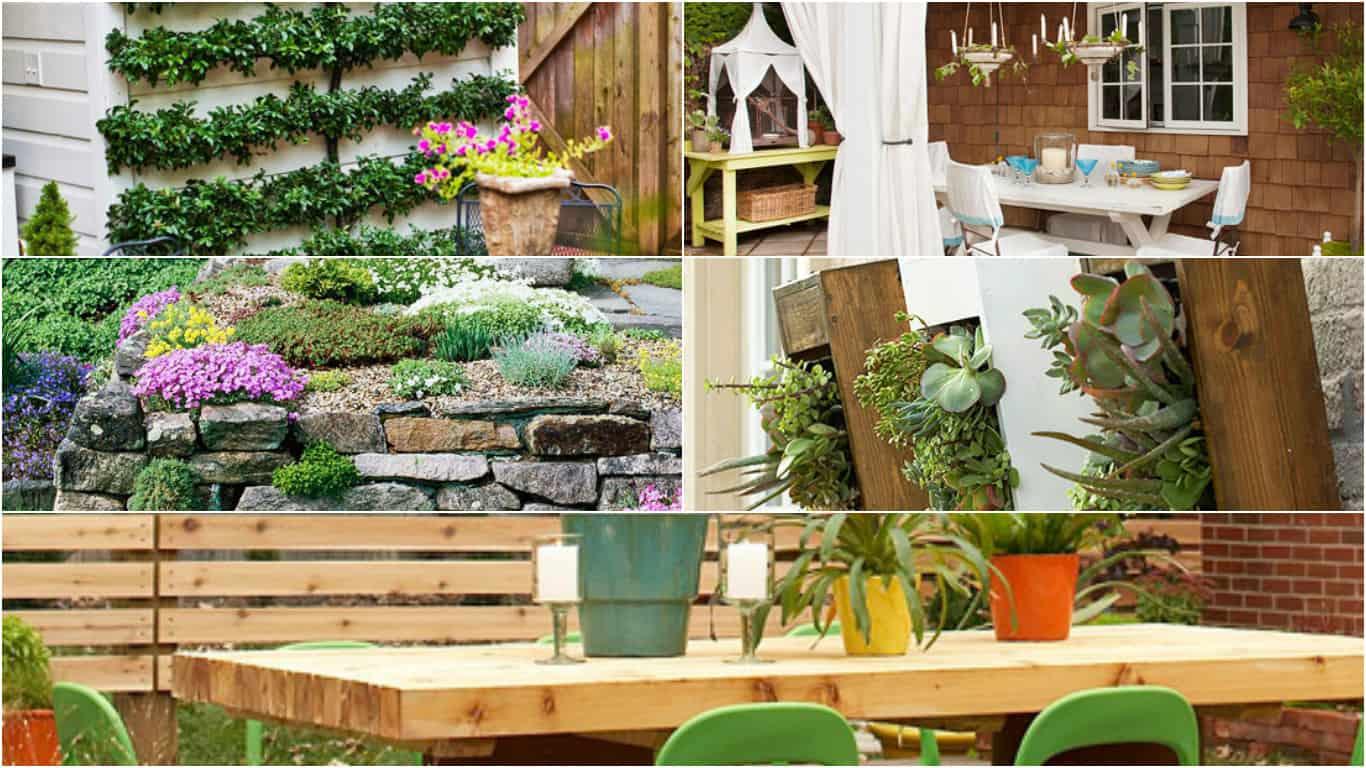 15 idee economiche per decorare il giardino guida giardino for Giardino verticale balcone