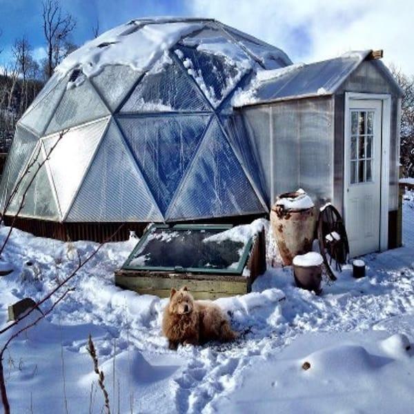 La serra da giardino per l'inverno