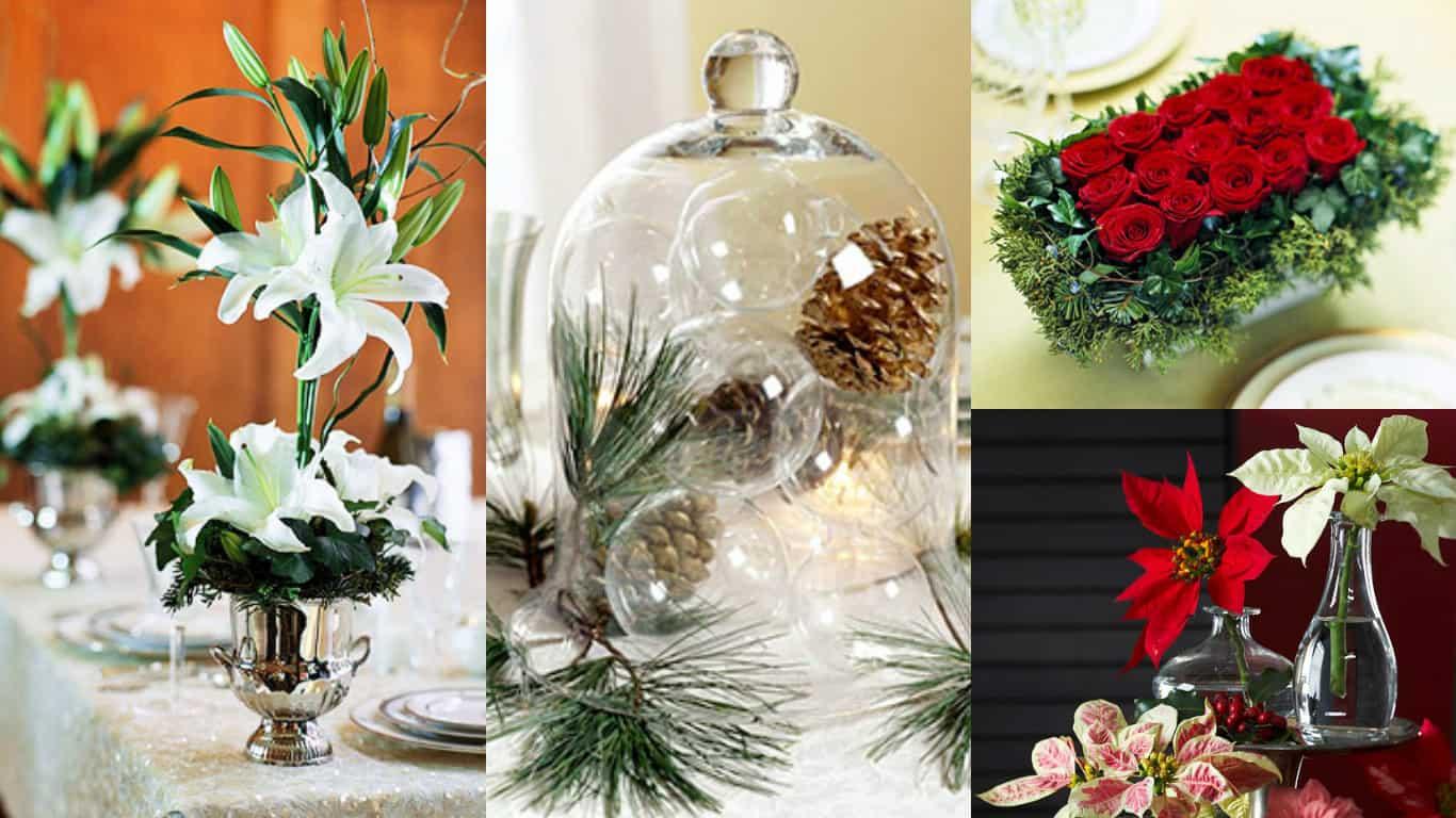 9 idee per realizzare centrotavola floreali in occasione del Natale